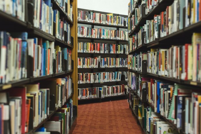 Estanteríes d'una biblioteca. / Pixabay