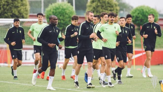 El Sporting empieza la última selmana de competición. / Pablo Albalá (Real Sporting)