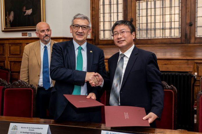 Alcuerdu de collaboración ente la Universidá d'Uviéu y la Beijing Union University