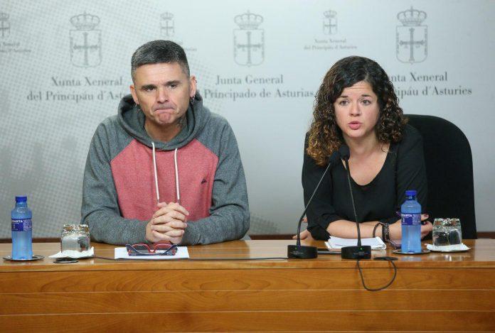Rafael Palacios y Sofía Castañón, de Podemos Asturies